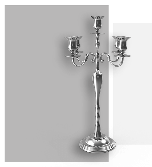 FF Decor Hire - Candle Holders