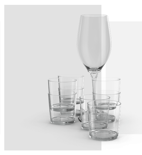 FF Decor Hire - Drinking & Wine Glasses